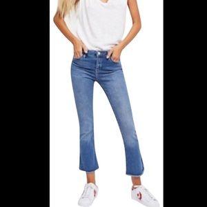 Free People high rise raw hem 28 jeans